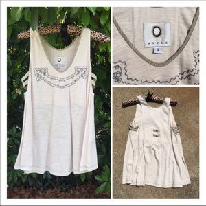 Mayle Embroidered Tank Top Size Small